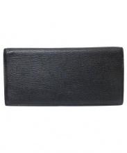 larcobaleno(ラルコバレーノ)の古着「折りたたみレザー長財布」|ブラック