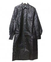 JUNYA WATANABE CDG(ジュンヤワタナベ コムデギャルソン)の古着「和紙切替ロングシャツ」|ブラック