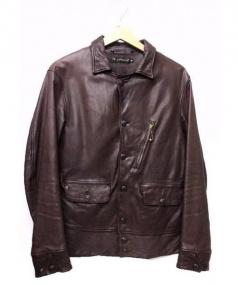 A VONTADE(ア ボンタージ)の古着「レザージャケット」|ブラウン