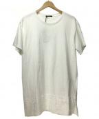 TAAKK(ターク)の古着「刺繍切替Tシャツ」 ホワイト