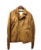 sage de cret(サージュデクレ)の古着「レザージャケット」|ベージュ
