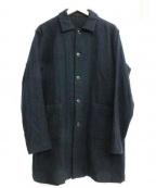 RINEN(リネン)の古着「ウールステインカラーコート」|ブラック