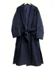 6(ROKU) BEAUTY&YOUTH(ロク ビューティ&ユース)の古着「メルトンガウンコート」|ネイビー