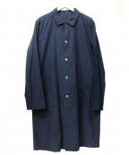 RINEN(リネン)の古着「ステンカラーコート」|ネイビー