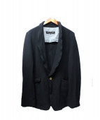 COMMEdesGARCONSHommePlus(コム デ ギャルソン オム プリュス)の古着「ポリ縮絨ジャケット」 ブラック