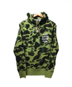 A BATHING APE(ア ベイシング エイプ)の古着「1stCAMO PULLOVER HOODIE	 スウェット」|グリーン