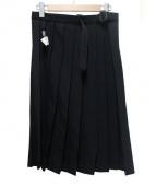 YohjiYamamoto pour homme(ヨウジヤマモトプールオム)の古着「ウールギャバプリーツスカート」|ブラック