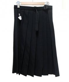 YohjiYamamoto pour homme(ヨウジヤマモト プールオム)の古着「ウールギャバプリーツスカート」|ブラック