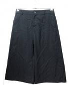 JUNYA WATANABE CDG(ジュンヤワタナベ コムデギャルソン)の古着「ウールギャバワイドパンツ」|ブラック