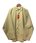 ETHOS(エトス)の古着「オーバーサイズシャツ」|ベージュ