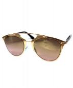 Christian Dior(クリスチャン ディオール)の古着「Dior Reflected ダブルブリッジメタルサングラス」 ゴールド