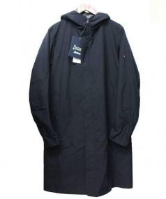 HERNO(ヘルノ)の古着「フーデッド比翼コート」 ブラック