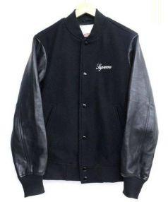 SUPREME(シュプリーム)の古着「WoolVarsityCrewJacket」|ブラック