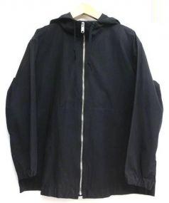 MHL.(エムエイチエル)の古着「ショートポプリンフードコート」|ブラック