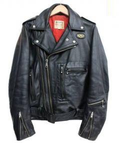 Lewis Leathers(ルイスレザー)の古着「ダブルライダースジャケット」|ブラック