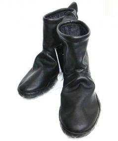 NIKE×COMME des GARCONS(ナイキ×コムデギャルソン)の古着「レザーブーツ」|ブラック
