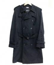 COMME des GARCONS(コムデギャルソン)の古着「トレンチコート」 ブラック