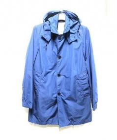 EDIFICE(エディフィス)の古着「フーデッドステンカラーコート」|ブルー