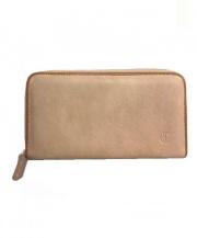 CLEDRAN(クレドラン)の古着「ラウンドファスナー財布」|ベージュ