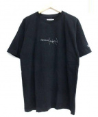 YOHJI YAMAMOTO×NEW ERA(ヨウジヤマモト×ニューエラ)の古着「反転ロゴTシャツ」|ブラック