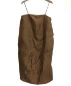 MARNI(マルニ)の古着「SLEEVELESS DRESS」|ブラウン