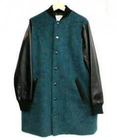 The Virgnia(ザ ヴァージニア)の古着「カラーシャギーロングスタジャンコー」 ブラック×グリーン