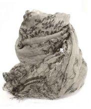 FALIERO SARTI(ファリエロサルティ)の古着「大判シルク混ストール」 グレー