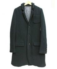 UNDERCOVER(アンダーカバー)の古着「5G畦ニットジャケット」|グレー