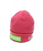 Supreme(シュプリーム)の古着「ニューエラボックスロゴビーニー」|ピンク
