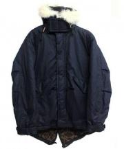 KATO(カトウ)の古着「中綿モッズコート」|ネイビー