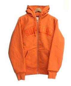 SUPREME(シュプリーム)の古着「Arc Logo Thermal Zip Up Sweats」 オレンジ
