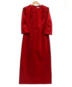 COMME des GARCONS(コムデギャルソン)の古着「ベルベットワンピース」|レッド