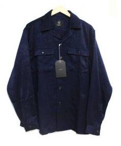 bukht(ブフト)の古着「オープンカラーシャツ」|ネイビー