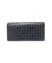 BOTTEGA VENETA(ボッテガベネタ)の古着「2つ折り長財布」|ブラック