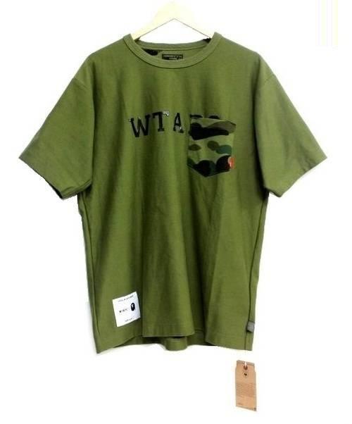 WTAPS × A BATHING APE(ダブルタップス×ア ベイシング エイプ)WTAPS × A BATHING APE (ダブルタップス×ア ベイシング エイプ) Tシャツ グリーン サイズ:1の古着・服飾アイテム