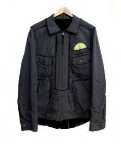 TAKAHIROMIYASHITA TheSoloIst.(タカヒロミヤシタザソロイスト)の古着「カッティングジップアップジャケット」|グレー