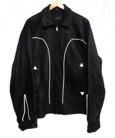 UNUSED(アンユーズド)の古着「DEER SKIN LEATHER JACKET」 ブラック
