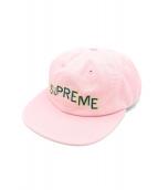 Supreme(シュプリーム)の古着「Stepped Arc 6 Panel cap」|ピンク