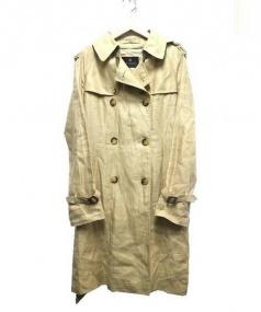 BRAMBLE(ブランブル)の古着「リネントレンチコート」|ベージュ