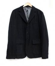 COMME des GARCONS HOMME(コムデギャルソン・オム)の古着「ウールジャケット」|ブラック