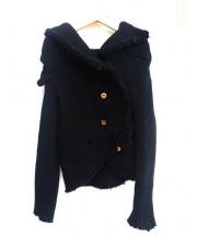 COMME des GARCONS(コムデギャルソン)の古着「歪みねじれニットジャケット」|ブラック