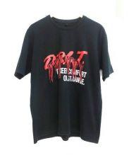 doublet(ダブレット)の古着「フリンジプリントTシャツ」 ブラック