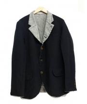 COMME des GARCONS HommePlus(コムデギャルソンオムプリュス)の古着「ポリ縮絨ジャケット」 ブラック×グレー