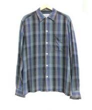 WACKO MARIA(ワコ マリア)の古着「レーヨンチェックシャツ」|ネイビー×グリーン