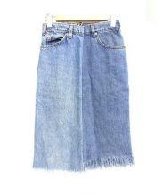 77circa(ナナナナサーカ)の古着「リメイクタイトデニムスカート」|ブルー