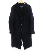 COMME des GARCONS HOMME(コムデギャルソンオム)の古着「縮絨コート」|ブラック