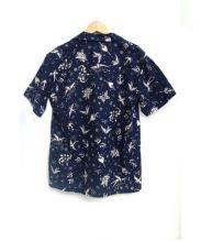 RUDE GALLERY BLACK REBEL(ルードギャラリーブラックレーベル)の古着「スワローハワイアンシャツ」|ネイビー