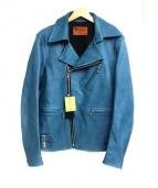 RUDE GALLERY BLACK REBEL(ルードギャラリーブラックレーベル)の古着「カウハイドレザージャケット」 ブルー