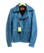 RUDE GALLERY BLACK REBEL(ルードギャラリー ブラックレーベル)の古着「カウハイドレザージャケット」 ブルー