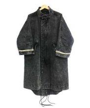 Vaporize(ヴェイパライズ)の古着「デニムモッズコート」|ブラック